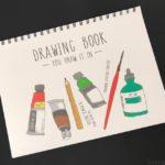 ダイソーのスケッチブック『DRAWING BOOK』が可愛い見た目で土台がしっかり!