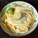 丸亀製麺の『すだちおろし冷かけうどん(冷)』が爽やかで超おいしい!