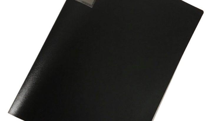 セリアでA4サイズのクリアファイル『POCKET FILE BLACK 40P』がシンプルでたっぷり!