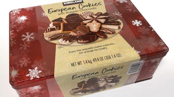 コストコで『カークランド クッキーアソート(ベルギーチョコレート)』がクリスマス缶で超おいしい!