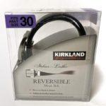 コストコの『カークランド メンズ リバーシブル レザーベルト』が両面使えて遊びも仕事もコレ一本!