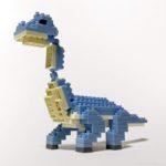 ダイソーの『ブラキオサウルス(プチブロック)』が首長の恐竜で大きい!