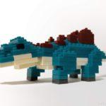 ダイソーの『ステゴサウルス(プチブロック)』は濃い青緑でカッコイイ!