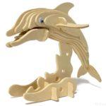 100均セリアの『イルカ』ウッドクラフトは台座付きで躍動感がある!