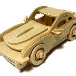 100均セリアの『スポーツカー』ウッドクラフトの曲線と細部の作り込みがカッコイイ!