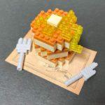 ダイソーの『パンケーキ(プチブロック)』がハチミツにバターでこんがり感でカワイイ!