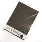 100均の『画用紙 COLOR PAPER 黒 3枚入』が大きなサイズで工作に便利!