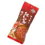 お菓子の『サクサク紅しょうが揚げ やみつき!ピリ辛味』が完全に紅生姜!