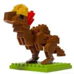 100均セリア『パキケファロサウルス(キッズブロック)』の石頭が良い!