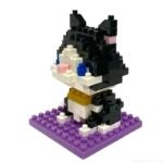 100均の『となりのねこ(はちわれ)』が白黒ネコのブロックで可愛い!