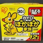 アイリスオーヤマの『ぽかぽか家族 レギュラーサイズ衣類に貼るタイプ30枚』が温かい!