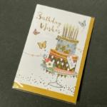 100円の『メッセージカードセット(ティータイム)』が封筒付きバースデーカードで可愛い!