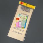 ダイソーの『伝票サイズ クリップボード カバー付き』が挟んでフタ付きで便利!