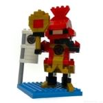 100均セリアの『黒田官兵衛(キッズブロック)』が赤い鎧でカッコイイ!
