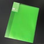 セリアの『ダブルインファイル10P(緑)』が見開きA3が入って便利!