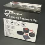 コストコの『Olympia Tools キャンプクッカーセット フライパン・鍋・ケトル・デッシュクロス』がアウトドアに便利!