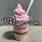 コストコの『いちごソフトクリーム』が甘酸っぱくて超おいしい!