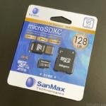 コストコの『microSDXC 128GB SanMax SDアダプタ&USBリーダー付き』がAndroidなどに便利!