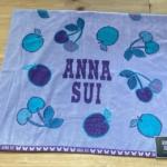 コストコの『ANNA SUI 大判タオル 101×177cm』リンゴとさくらんぼのデザイン!