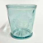 100均の『クラリスコップ M ブルー』が透明でオシャレなコップで小物を入れるのに便利!