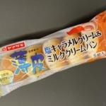 ヤマザキの『薄皮塩キャラメルクリーム&ミルククリームパン』がキャラメルの甘さで超おいしい!