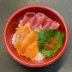 はま寿司の『まぐろサーモン丼』がイクラと大葉も乗って超おいしい!