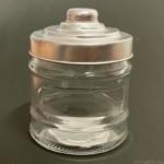 100均の『アルミ蓋キャニスター(約320ml)』ガラスのミニサイズ容器でオシャレ!