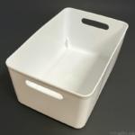 100均の『ソフトライナケースL型 ホワイト』が大きな柔らか容器で便利!