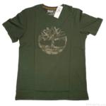 Timberlandの『メンズ 半袖 ツリー ロゴ Tシャツ (A2EW6)ダッフル バッグ』が真ん中にシンプルなロゴマークでオシャレ!