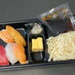 はま寿司の『寿司うどん弁当(5貫)』が390円で寿司とうどんのお得なセット!