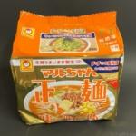 東洋水産の『マルちゃん正麺 味噌味 5食パック』が太めのモチッと麺に味噌の味で超おいしい!