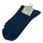 100均の『紳士ショートソックス リブ無地』の青色がシンプルで履き心地も良い!